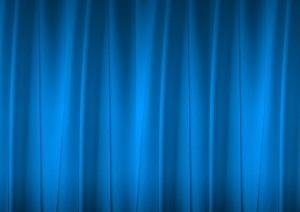 青いカーテン