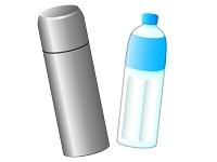 水筒とスポーツドリンク