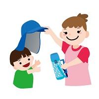 熱中症を予防する親子