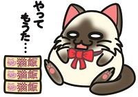 食べ過ぎた猫