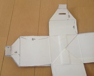 折り紙貯金箱のサイズ