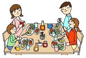 4人家族の食卓