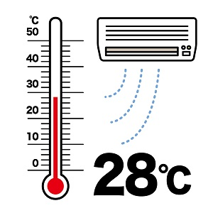 冷房の設定温度