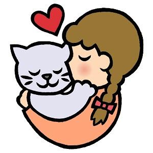猫,抱っこ