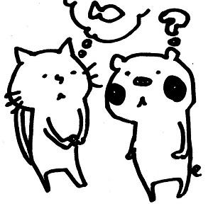 相談する猫