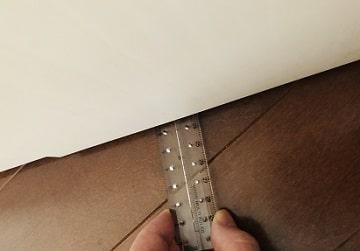 ドア下の防音テープ,貼り方