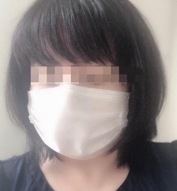 ふつうのマスク着用