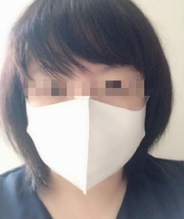 ひんやり素材の冷涼感マスク,ふつう,正面