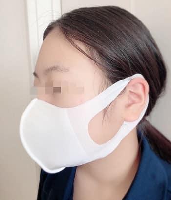 ひんやり素材の冷涼感マスク,小さめ,横