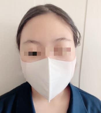 ひんやり素材の冷涼感マスク,小さめ,正面