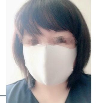グンゼ,肌にやさしい布製マスク,大人着用正面
