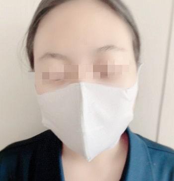 グンゼ,肌にやさしい布製マスク,小顔女性