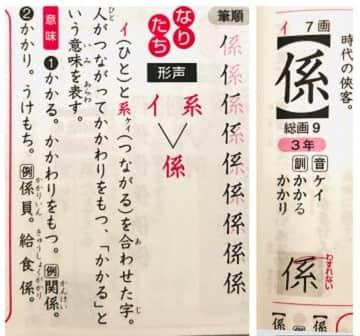 係,漢字の意味