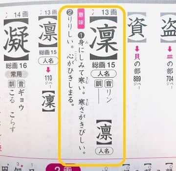 凛,漢字の意味