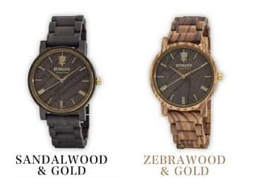 木製腕時計,EINBAND,sandalwood&gold