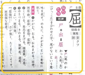 屈,漢字の意味