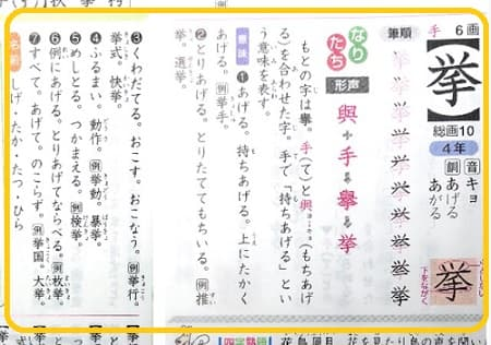 推挙,挙,漢字のなりたちと意味