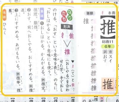 推挙,推,漢字のなりたちと意味