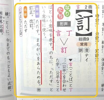 改訂,訂,漢字のなりたちと意味